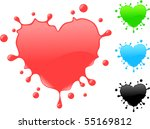 Heart Shape Splash   Vector