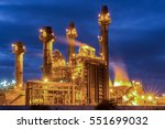 gas turbine electrical power... | Shutterstock . vector #551699032