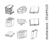book doodles set   Shutterstock .eps vector #551699125