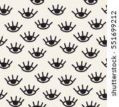 vector seamless pattern with... | Shutterstock .eps vector #551699212