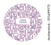 background food truck. elements ... | Shutterstock .eps vector #551699575