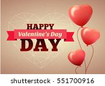 valentines day flyer. vector... | Shutterstock .eps vector #551700916