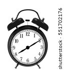 close up of black bell clock ... | Shutterstock . vector #551702176