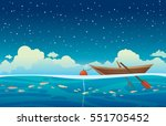 seascape vector illustration  ... | Shutterstock .eps vector #551705452