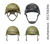 set of military camouflage... | Shutterstock .eps vector #551706346