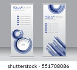 roll up banner stand template.... | Shutterstock .eps vector #551708086