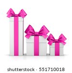 group three pink gift boxes...   Shutterstock . vector #551710018