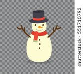 snowman on background. | Shutterstock .eps vector #551710792