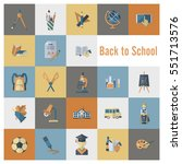 School And Education Icon Set....
