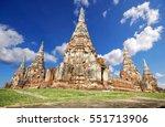 wat chaiwatthanaram temple of... | Shutterstock . vector #551713906