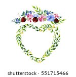 love concept. heart and flowers.... | Shutterstock . vector #551715466