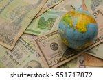 globe map sign over many... | Shutterstock . vector #551717872