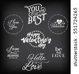 valentine's day typography... | Shutterstock .eps vector #551724265