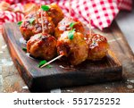 Chicken Meatballs With Glaze...