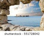 kizkalesi  maiden's castle  ... | Shutterstock . vector #551728042