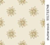 edelweiss flower seamless... | Shutterstock .eps vector #551733748