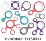 round graphic elements set in 4 ... | Shutterstock .eps vector #551736898
