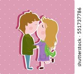 vector postcard for valentine's ... | Shutterstock .eps vector #551737786