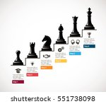 chess   business growth... | Shutterstock .eps vector #551738098