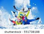 group happy friends having fun... | Shutterstock . vector #551738188