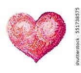 Van Gogh Heart. Vector...