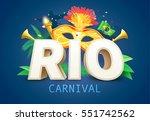 brazil carnival background | Shutterstock .eps vector #551742562