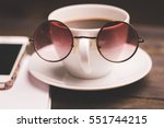 mug  coffee  notebook  glasses | Shutterstock . vector #551744215