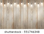 Wood Wall With Bulb Lights Lam...