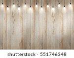 Wood Wall With Bulb Lights Lamp....
