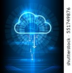 cloud technology modern blue... | Shutterstock .eps vector #551749876