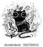 black cat vector design... | Shutterstock .eps vector #551750512