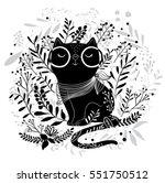 black cat vector design... | Shutterstock .eps vector #551750512