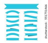blue ribbon banners set.... | Shutterstock . vector #551751466