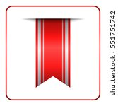 red bookmark banner. vertical... | Shutterstock . vector #551751742