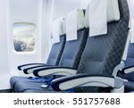 airplane seats in the cabin... | Shutterstock . vector #551757688
