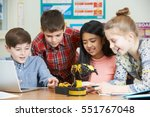 pupils in science lesson...   Shutterstock . vector #551767048