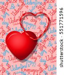 valentines day colorful heart... | Shutterstock .eps vector #551771596