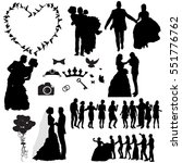 silhouette of the wedding  the ... | Shutterstock .eps vector #551776762