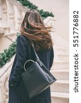 fashion blogger outfit details. ... | Shutterstock . vector #551776882