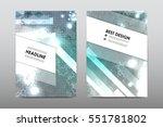 brochure layout template flyer... | Shutterstock .eps vector #551781802