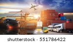 logistics and transportation of ... | Shutterstock . vector #551786422