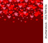 valentines day background with... | Shutterstock . vector #551789656