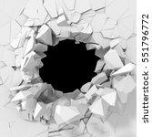 dark destruction cracked hole... | Shutterstock . vector #551796772