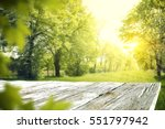 wooden desk of free space and... | Shutterstock . vector #551797942