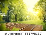 wooden desk of free space and... | Shutterstock . vector #551798182