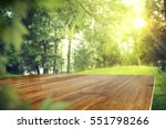 wooden desk of free space and... | Shutterstock . vector #551798266