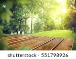 wooden table of free space in... | Shutterstock . vector #551798926