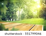 wooden table of free space in... | Shutterstock . vector #551799046