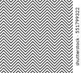 Black and white seamless zig zag line pattern background | Shutterstock vector #551799322