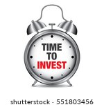 time to invest on retro alarm... | Shutterstock .eps vector #551803456